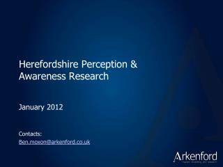 Herefordshire Perception & Awareness Research
