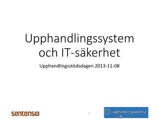 Upphandlingssystem och IT-säkerhet