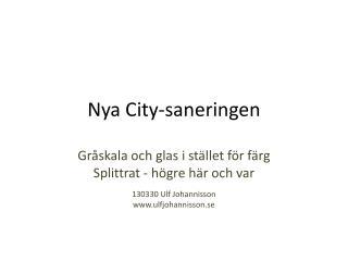 Nya City-saneringen