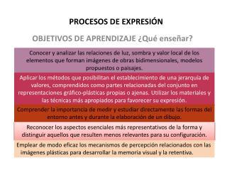 PROCESOS DE EXPRESIÓN