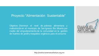 """Proyecto """"Alimentación  Sustentable"""""""