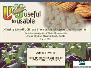 Adam K.  Wilke Department of Sociology Iowa State University