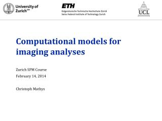 Computational models for imaging analyses