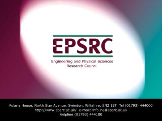 Engineering and Physical Sciences Research Council