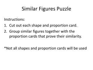 Similar Figures Puzzle