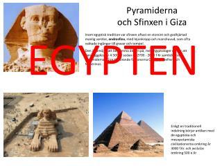 Pyramiderna och Sfinxen i Giza