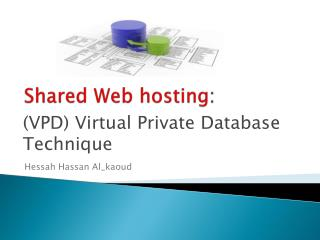 Shared Web hosting :