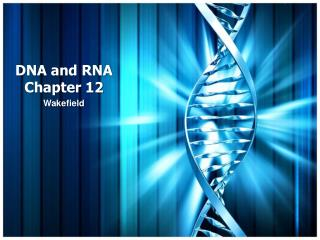 DNA and RNA Chapter 12