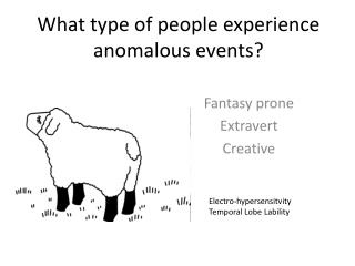What type of people experience anomalous events?