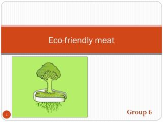 Eco-friendly meat