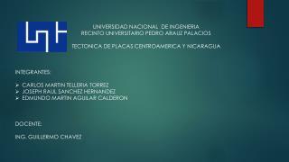 UNIVERSIDAD NACIONAL  DE INGENIERIA RECINTO UNIVERSITARIO PEDRO ARAUZ PALACIOS