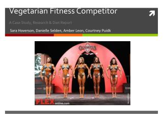 Vegetarian Fitness Competitor A Case Study, Research & Diet Report
