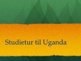 Studietur til  Uganda