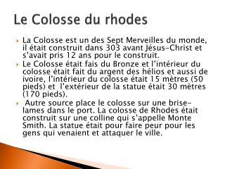 Le Colosse du rhodes