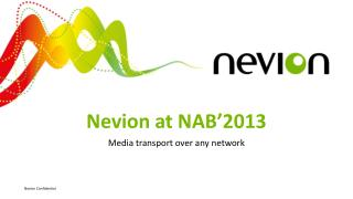 Nevion at NAB'2013