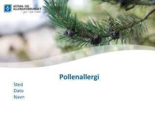 Pollenallergi Sted  Dato  Navn