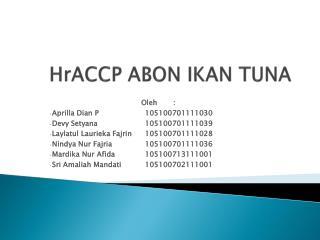 HrACCP ABON IKAN TUNA