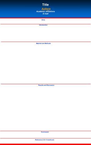 Title Authors Academic affiliations  E-mail