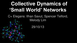 Collective Dynamics of �Small World� Networks
