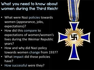 What you need to know about women  during the  Third  Reich :
