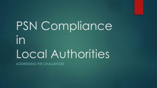 PSN Compliance in Local Authorities