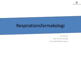Respirationsfarmakologi