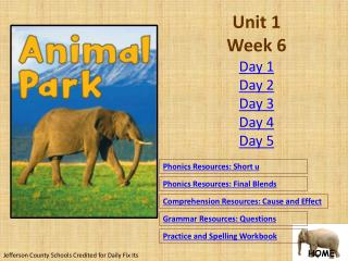 Unit 1 Week 6