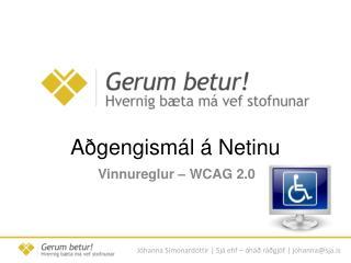 A�gengism�l � Netinu