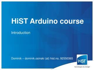 HiST Arduino course