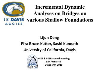 Incremental Dynamic Analyses on Bridges on various Shallow Foundations