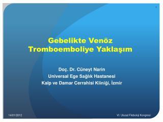 Gebelikte Venöz Tromboemboliye Yaklaşım