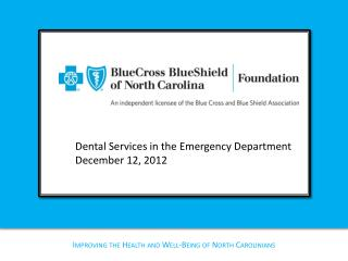 Improving the Health and Well-Being of North Carolinians