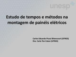 Estudo de tempos e métodos na montagem de painéis elétricos