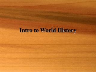 World History before 1500