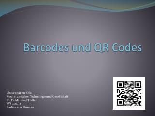Barcodes und QR Codes