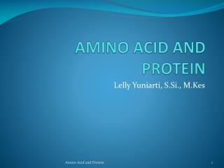 AMINO ACID AND PROTEIN