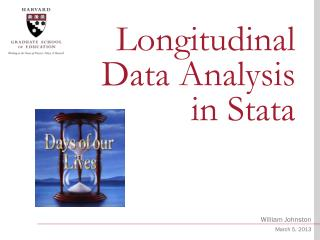 Longitudinal Data Analysis in  Stata