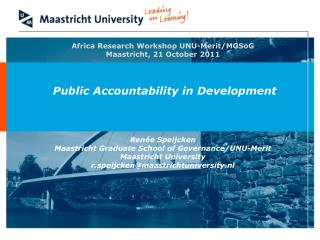 Africa Research Workshop UNU-Merit/MGSoG Maastricht, 21 October 2011
