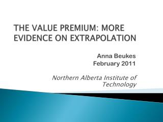 The value premium: more evidence on extrapolation