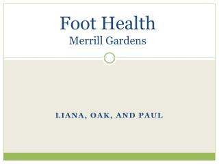 Foot Health Merrill Gardens