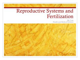 Reproductive Systems and Fertilization