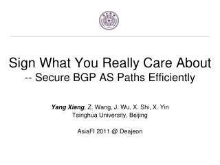 Sign What You Really Care  About -- Secure  BGP AS Paths Efficiently
