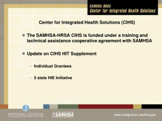 Center for Integrated Health Solutions (CIHS)
