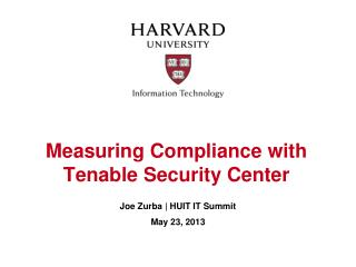 Measuring Compliance with Tenable Security Center