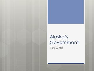 Alaska's Government