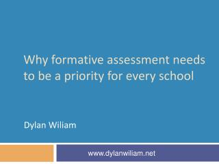 Why formative assessment needs to be a priority for every school