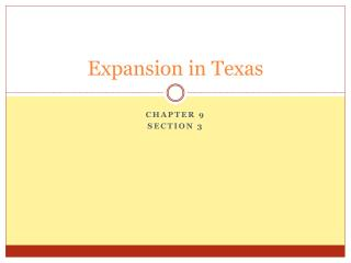 Expansion in Texas