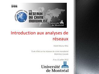 Introduction  aux analyses de réseaux