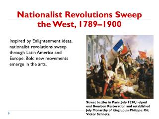 Nationalist Revolutions Sweep the West, 1789–1900