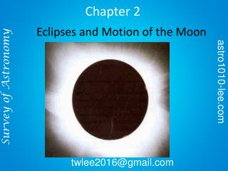 Eclipses and Motion of the Moon
